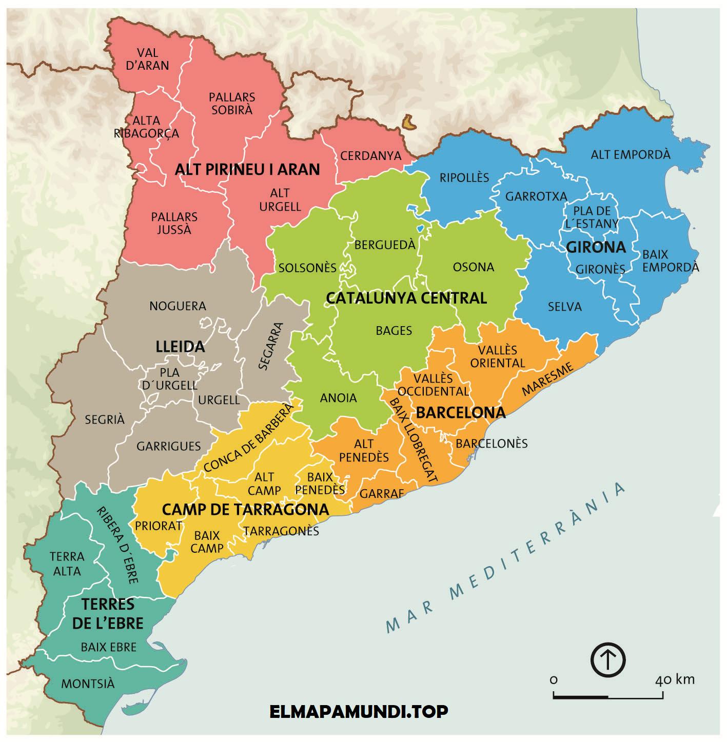 comarcas de catalunya