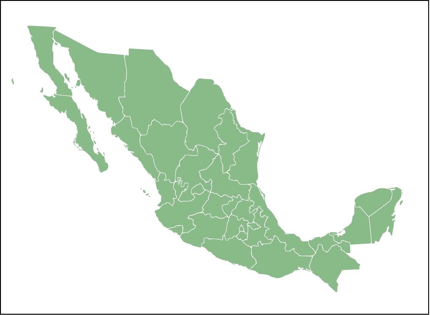 Mapa de México con nombres y división política (3)