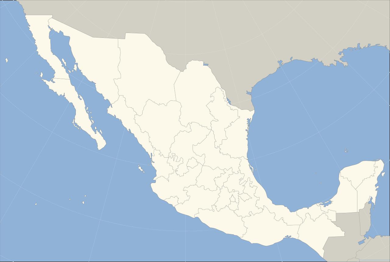 Mapa de México con nombres y división política (4)